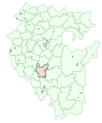 Район на карте Башкортостана