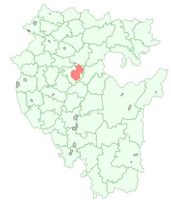 Город Уфа на карте